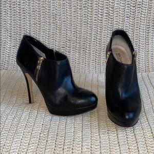Michael Kors black heels with gold zipper